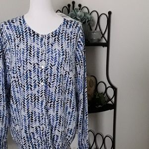 Karen Scott long sleeve button cardigan. NWT